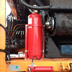 Vehicle Fire suppression system tank