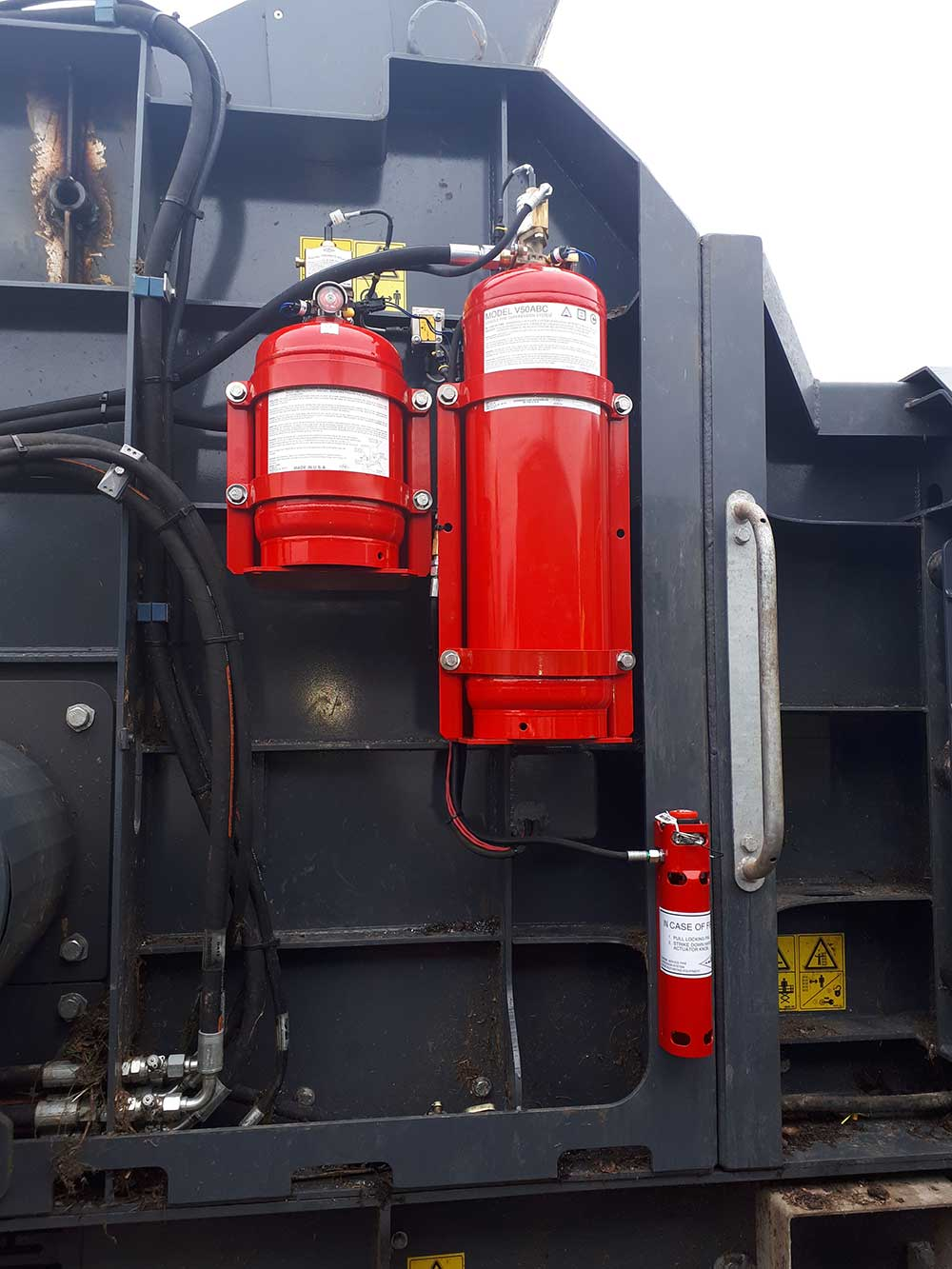 Vehicle Fire suppression system tanks