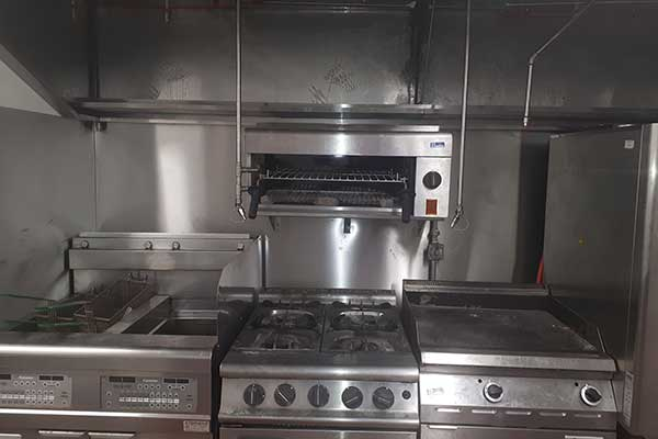Fire Suppression System in Kitchen